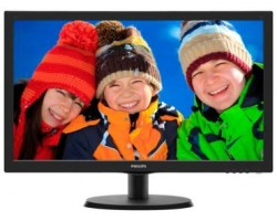 "Монитор PHILIPS 21.5"" 223V5LHSB2 (00/01) черный TFT LED 5ms 16:9 HDMI матовая 600:1 200cd 1920x1080 (98765) (223V5LHSB2 (00/01)) Акция"