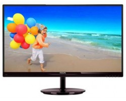 "Монитор PHILIPS 23.6"" 243V5LSB5/00 Black (LED, 1920x1080, 5 ms, 170град./160град., 250 cd/m, 10M:1, +DVI) (114045) (243V5LSB5/00) Акция"