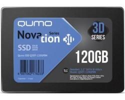 """Жесткий диск SSD 2.5"""" SATA3 QUMO Novation 3D, 120Gb, TLC 3D, Q3DT-120GPBN R560Mb/s, W540Mb/s, OEM (117564) (Q3DT-120GPBN OEM) Новинка"""
